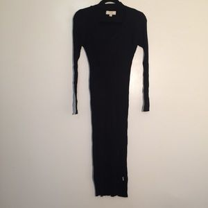 438b23d90fced NWOT No comment black ribbed choker bodycon dress